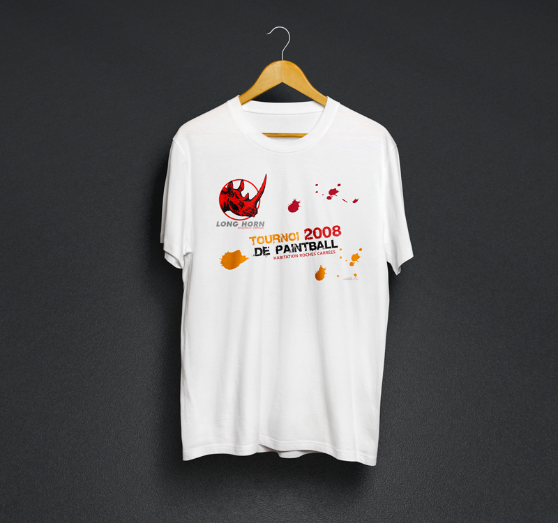 Tee-shirt, Paintball de Roches carrées
