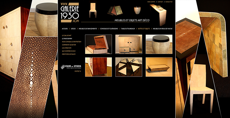 Home Page Site Internet, Galerie 1930