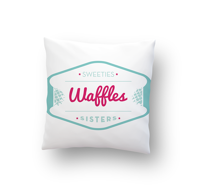 Coussin, Sweeties Waffles Sisters