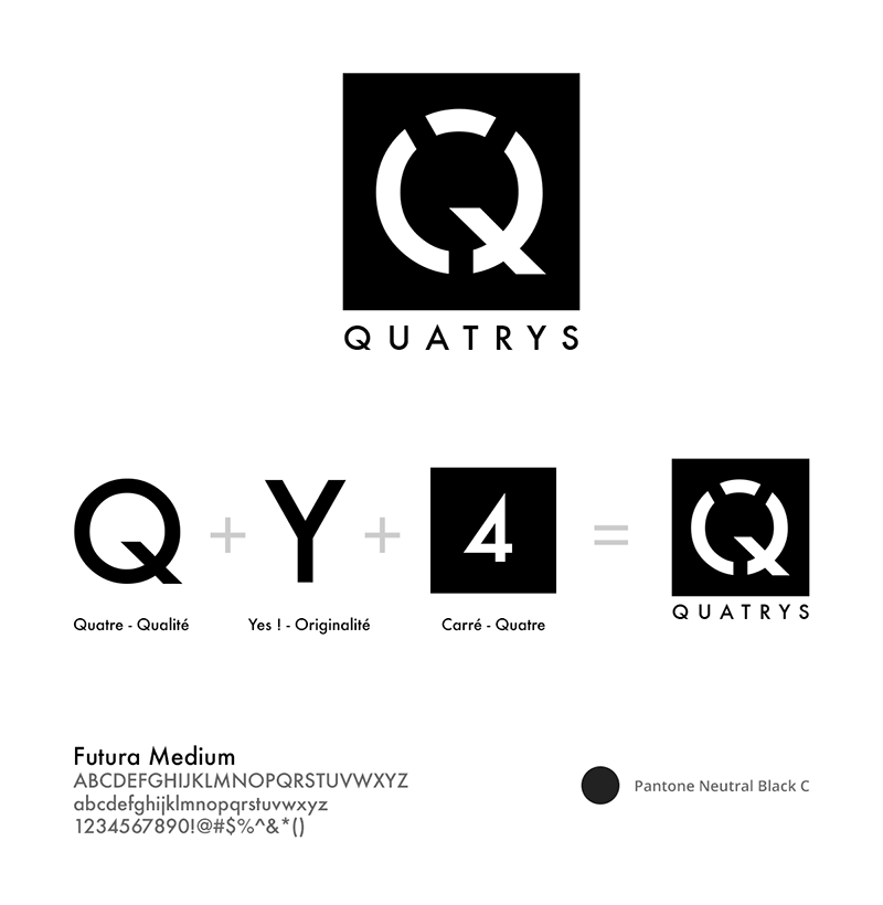 Construction Logotype, Quatrys Agence de communication